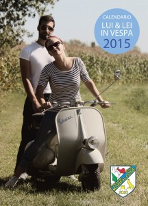 Calendario Lui e Lei in Vespa 2015
